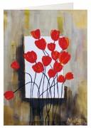 Grußkarte »Tulpen im Rahmen«