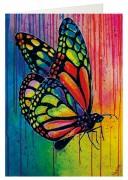 Grußkarte »Bunter Schmetterling«