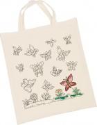 Baumwolltasche mit Schmetterlingen zum Ausmalen