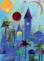 Grußkarte »Blaue Stadt«