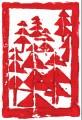Weihnachtskarte »Weihnachtsbäume«